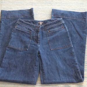 J. Jill wide-legged jeans